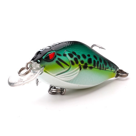 XIN-V Crankbait VKR58 Snoop VIBS Shallow Diving Crankbaits Dying Rattle Sound Wobbler Artificial Hard Crank Bait bass fishing lu