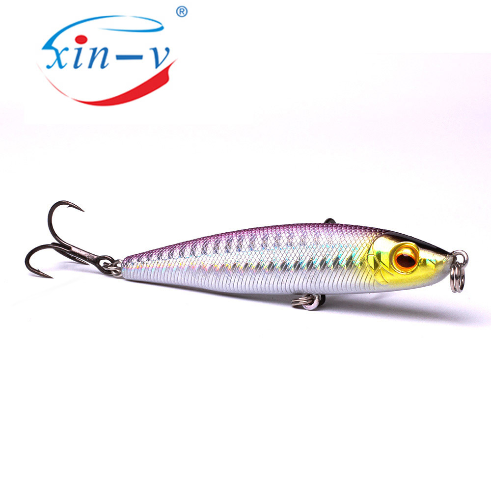 XINV topwater lures 12MM/16G fishing lure pencil abs plastic bait 4# hook