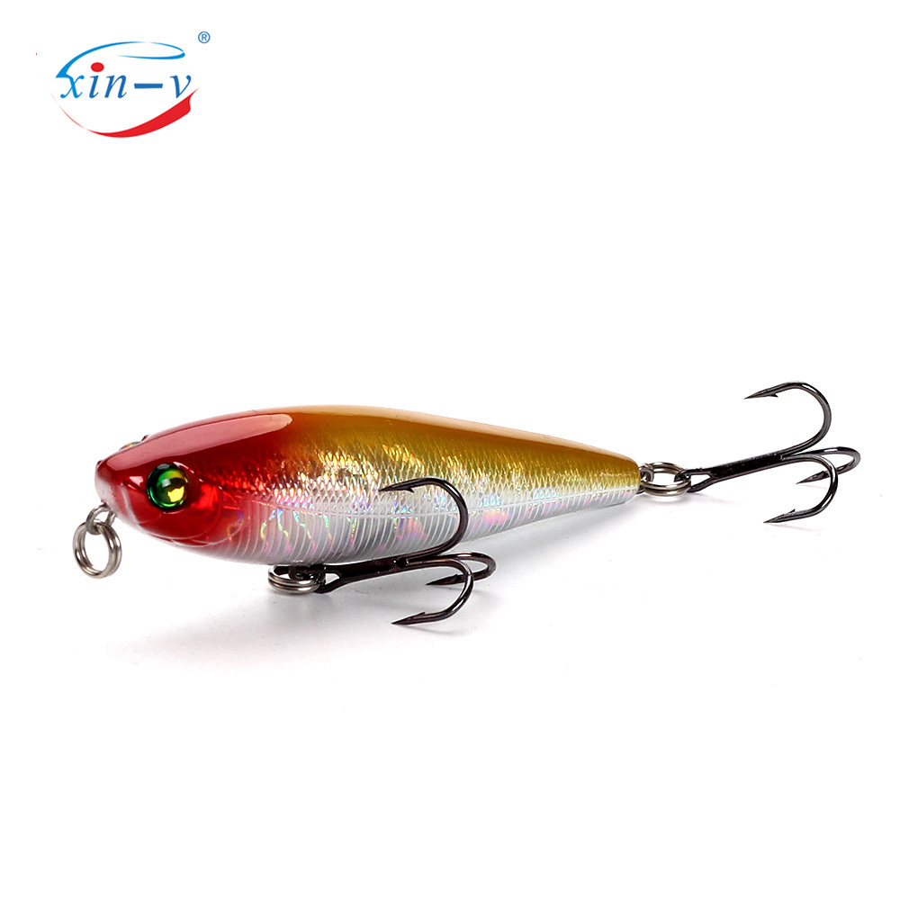 XINV pencil lure 75mm/7g fishing lure OEM/ODM factory bait with 4# hook