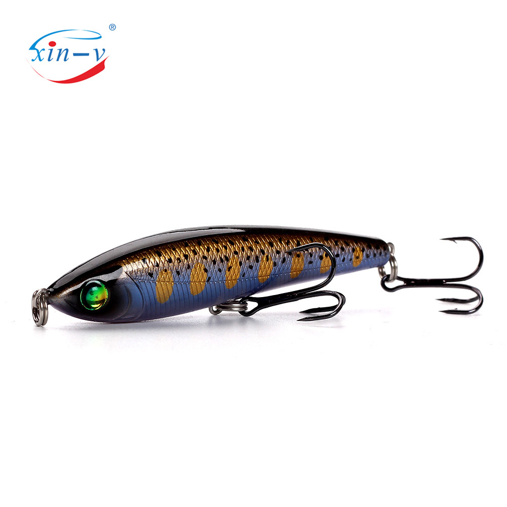 XINV pencil lure OEM/ODM 78mm/11g fishing lure with factory abs plastic bait