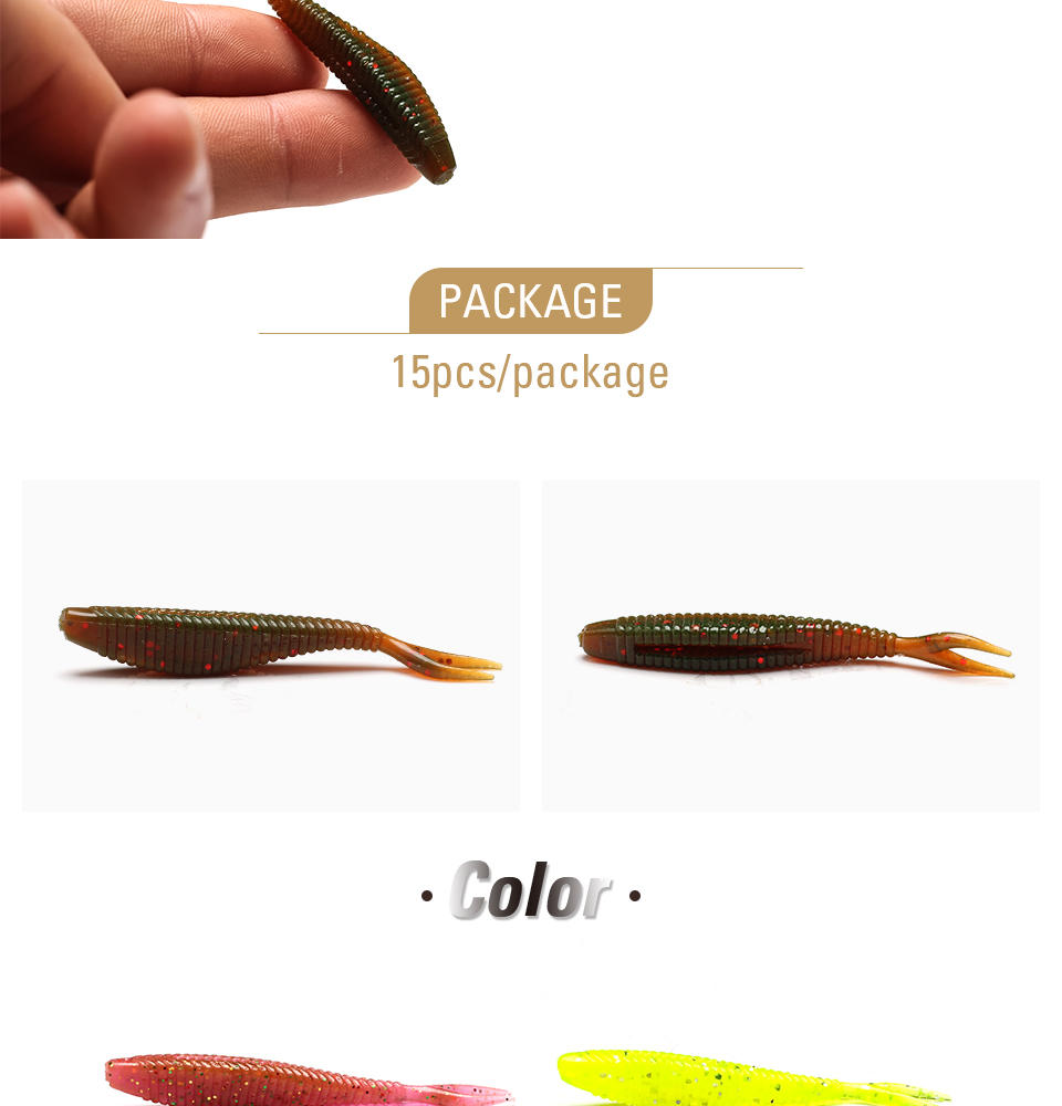XIN-V -Find Soft Fishing Lures Xin-v Soft Lure Shad60 Free Sample 60mm 15g-2