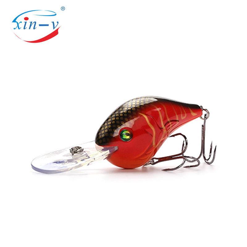 XIN-V Crankbait VC02 75mm 24g Devil Deep Chub Rattle Sound Wobbler Diving Crankbait Floating Fishing Lure Hard Artificial Bait F