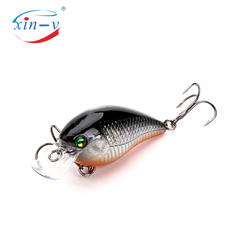XIN-V Crankbait VC03 60mm 12g Blitz Crank Floating Fishing Lure Rattle Sound Wobbler Square Bill Artificial Medium Diving Crankb
