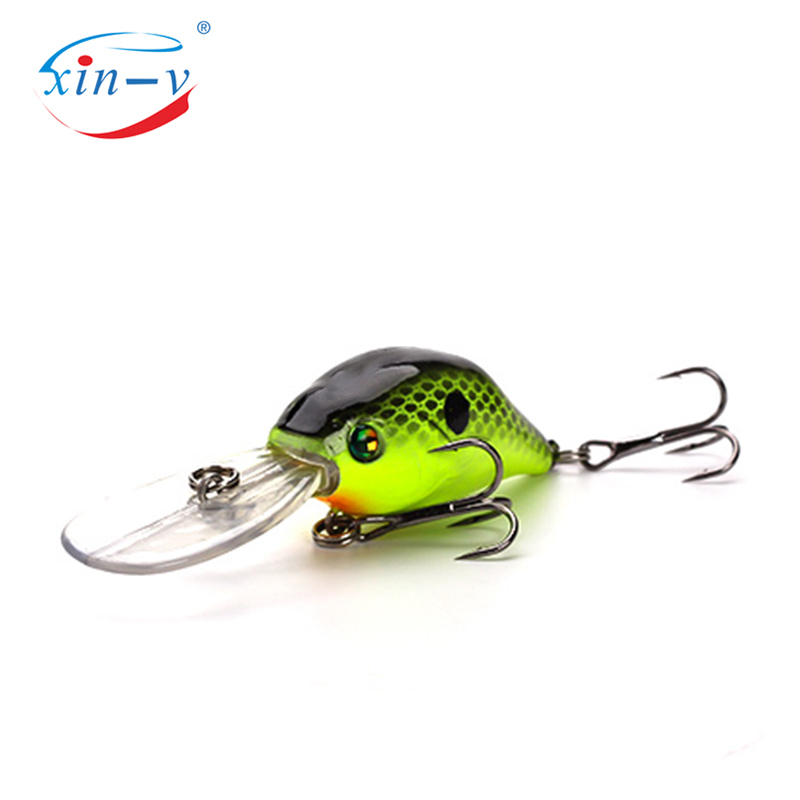 XIN-V Crankbait VC07 50mm 10g Profound Pulse Floating Bass Fishing Lure Sound Wobbler Hard Artificial Bait Deep Diving Crankbait