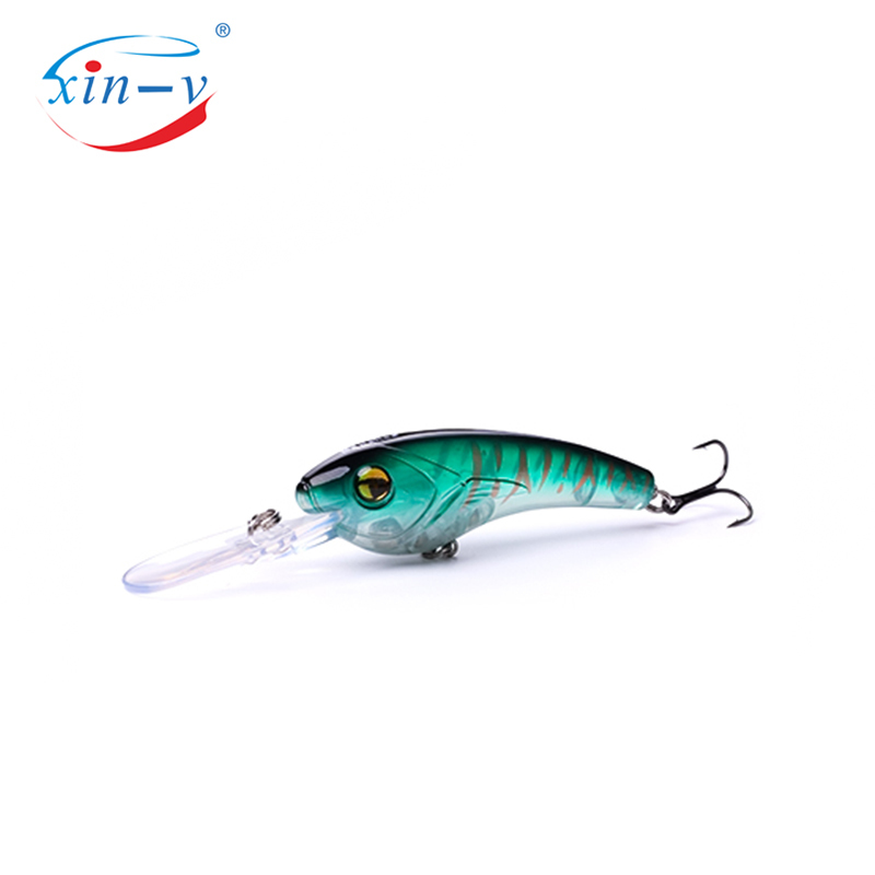 XIN-V Crankbait VS01 95mm 19g Wobbler Fishing Lure Hard Artificail Bait Pike Bass Floating Big Diving Round Round Bill Crankbait