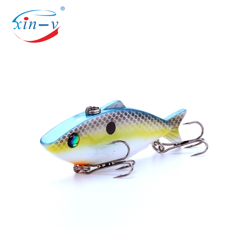 XIN-V Crankbait VV03 Waver Ghost VIB Vibe Vibration Rattle Virbrtor Sound Wobbler Rattle Sinking Fishing Lure Lipless Crankbait