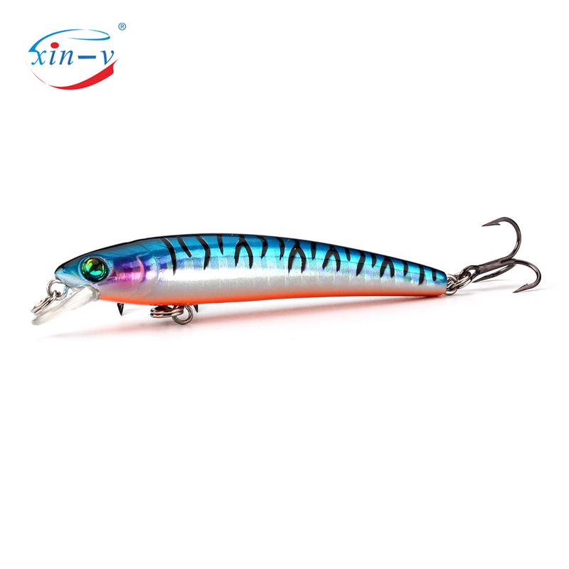 XIN-V Jerkbait GO-011 70mm 4.5g Wobbler Hard Artificail Bait Trout Bluegill Fishing Lure Slow Sinking Jerk Bait Minnow Wholesale