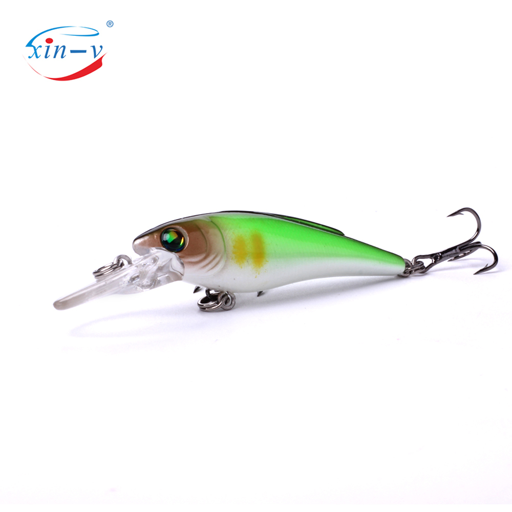 XIN-V Crankbait K223 55mm 3.7g Freshwater Fishing Lure Small Mouth Bass Perch Bluegill Tourt Shallow Diving Jerkbait Minnow Cran