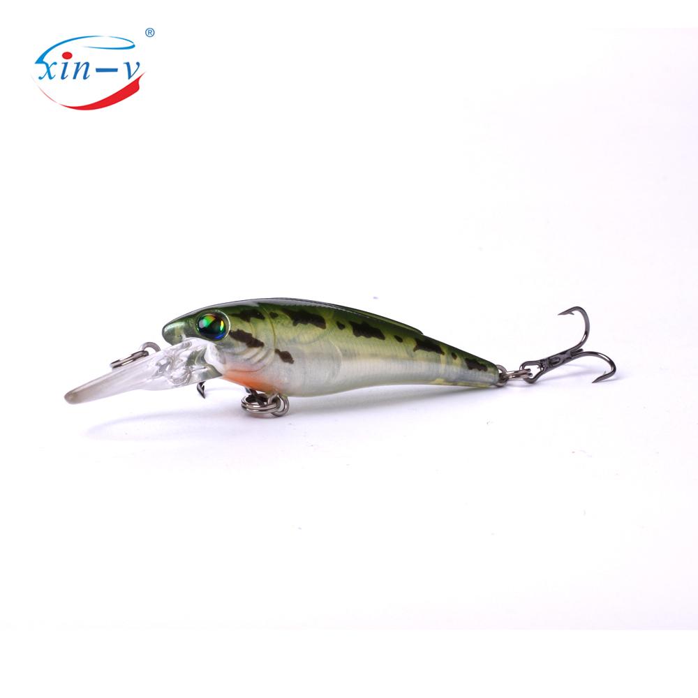 XIN-V Crankbait K223 55mm 3.7g Freshwater Fishing Lure Small Mouth Bass Perch Bluegill Tourt Shallow Diving Jerkbait Minnow Cran