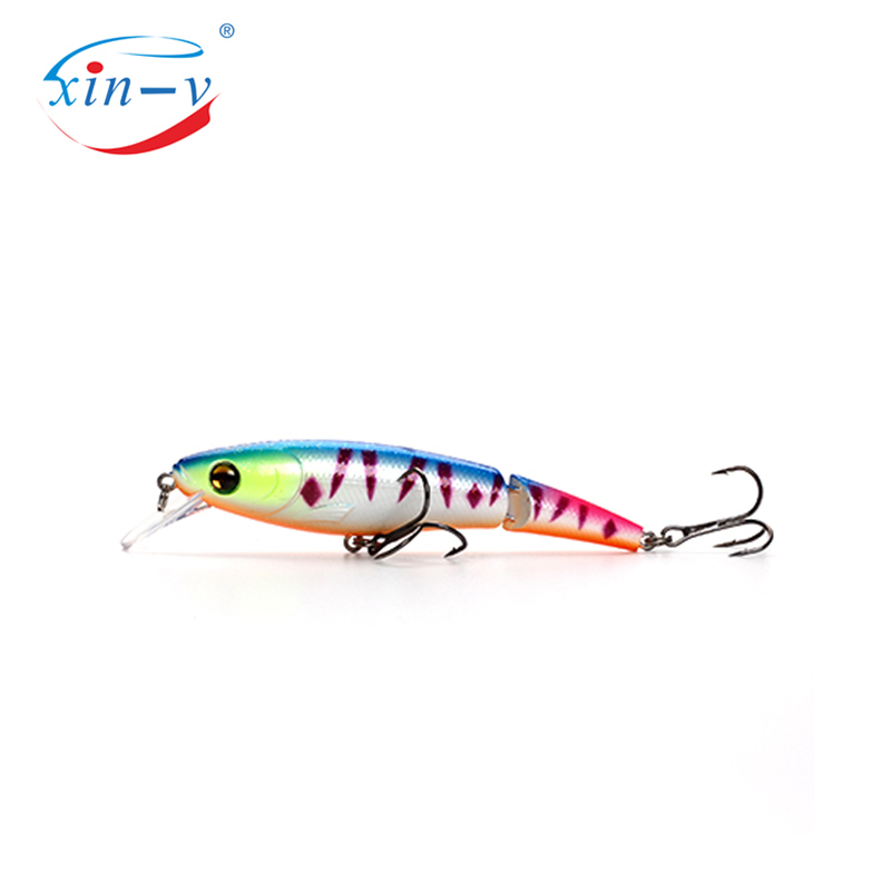 XIN-V Jerkbait VJ01 95mm 14g Floating Fishing Lure Rattle Sound Jerk lifelike Swimbait 2 Sections Mulit Jointed Jerkbait Minnow