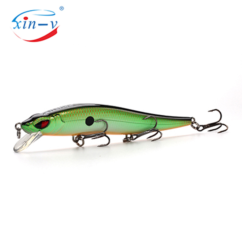 XIN-V Jerkbait VM02 100mm 10g Slim Fighter Fishing Lure Rattle Sound Wobbler Walleye Muskies Hard Artificial Bait Jerkbaits Minn