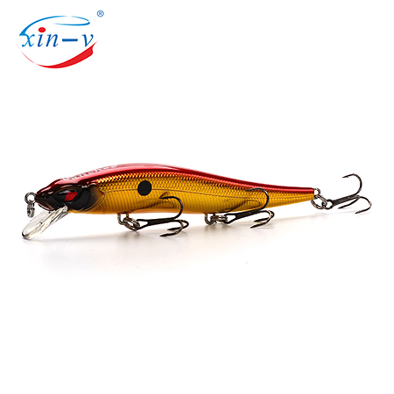 XIN-V Jerkbait VM02 100mm 10g Slim Fighter Fishing Lure Rattle Sound Wobbler Walleye Muskies Hard Artificial Bait Jerkbaits Minn
