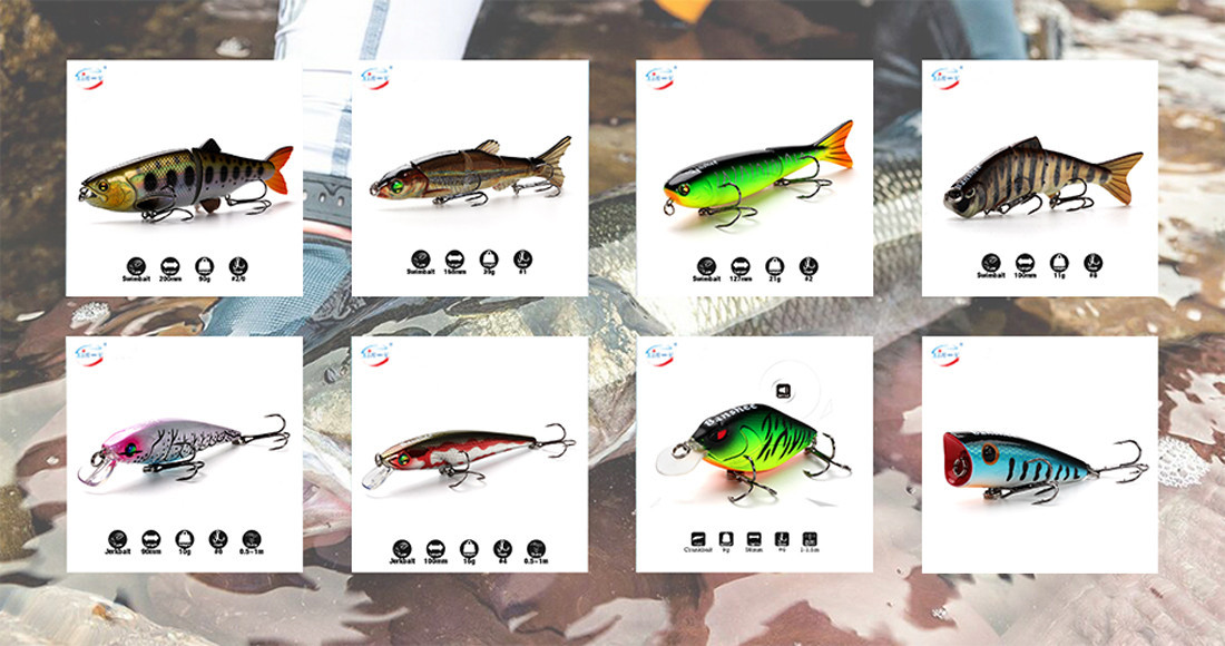 XINV Brand minnow mulit artificial bass lures