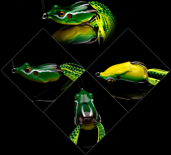 Hot fishing soft plastic lures eyes frog XINV Brand