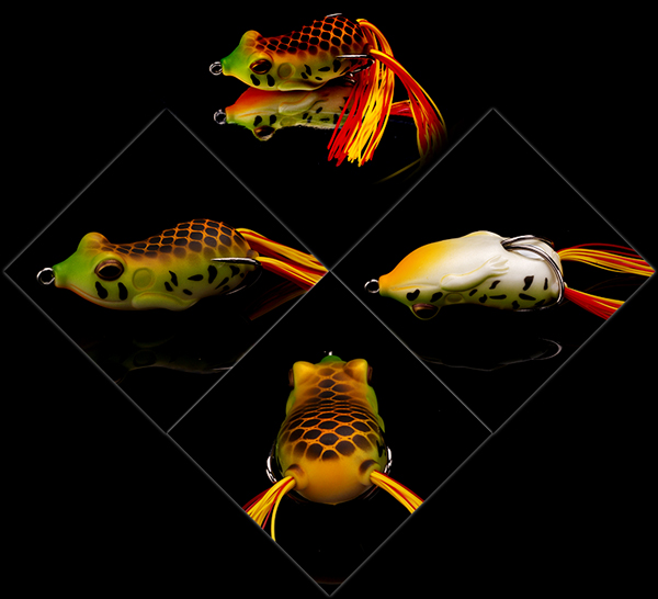 XIN-V -High-quality Xin-v Soft Lure Frog Free Sample 60mm 15g Artificial 3d Eyes-8