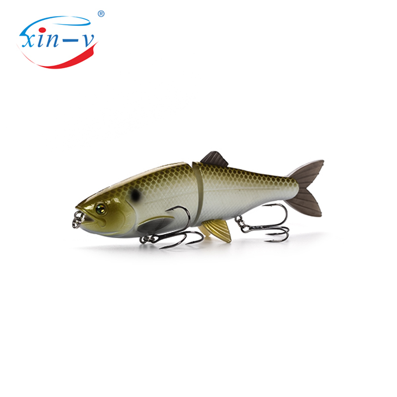 XIN-V Swimbait AT01 200m 90g 2 Sections Multi Jointed Life Like Fishing Lure Trout Hard Artificail Bait for Tuna Pike Bass Swimb