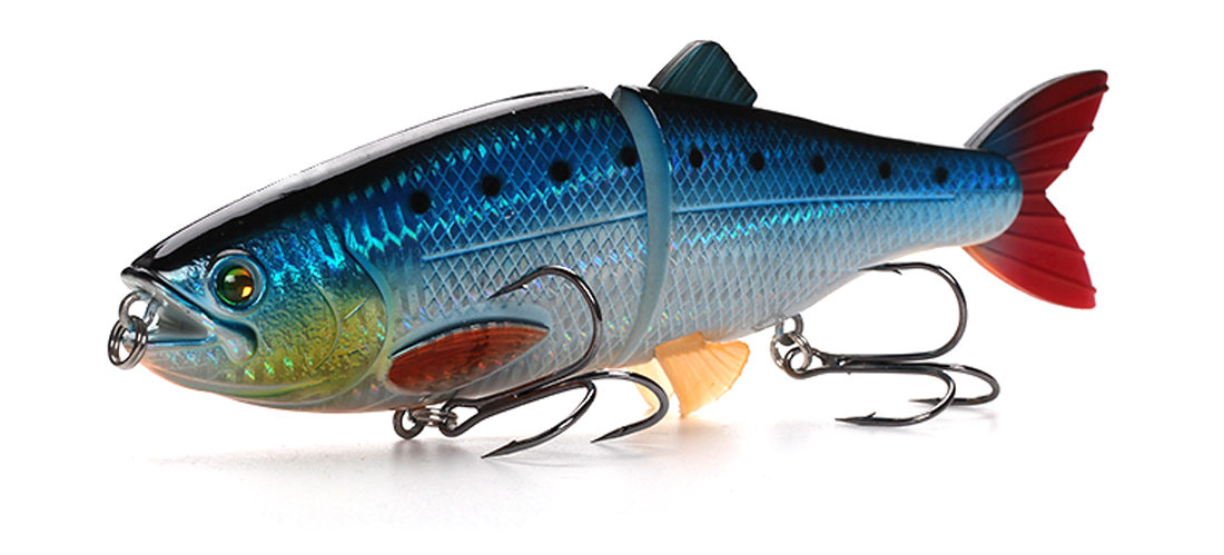 XIN-V -Xin-v Swimbait At01 200m 90g 2 Sections Multi Jointed Fishing Lure-4
