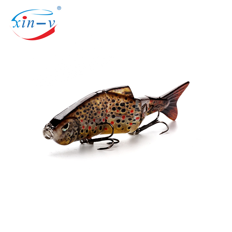 XIN-V Swimbait VMJ04-4 100mm 11g Nexus Prophecy Multi Jointed Section Sinking Swimbait Minnow Fishing Lure Hard Artificial Bait