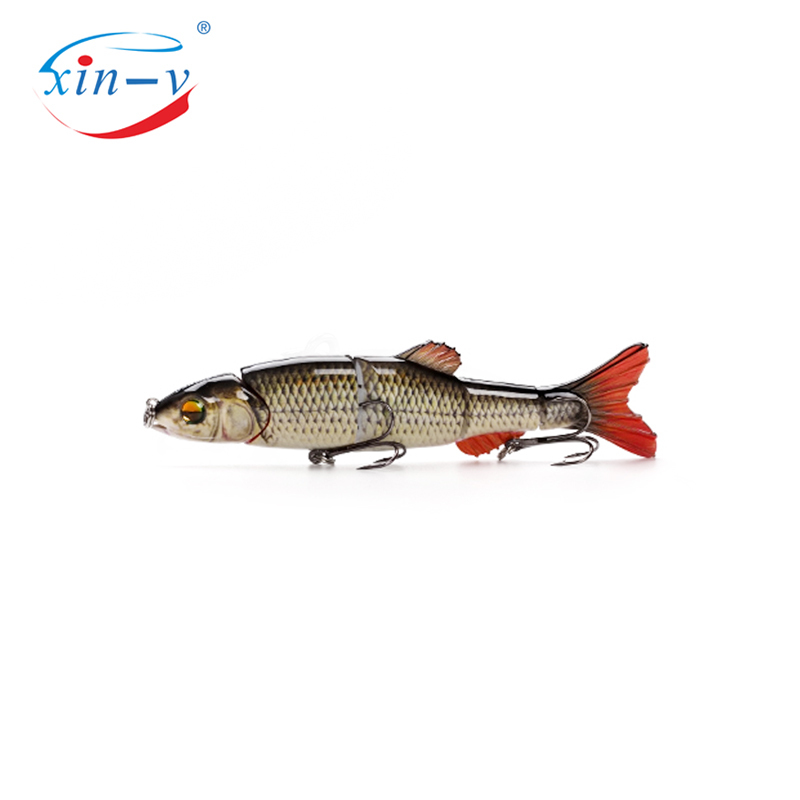 XIN-V Swimbait VMJM05-6.5 168mm 38g Hard Artificial Bait Pike Walleye Bass Fishing Lure Sinking 5 Sections Multi Jointed Swimbai