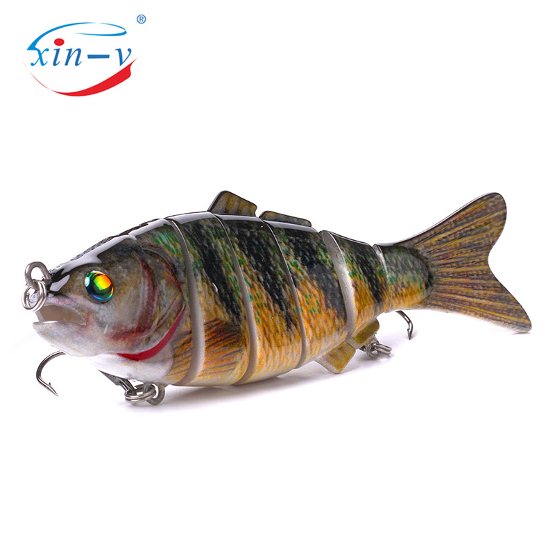 XIN-V Swimbait VSJ06-5 120mm 31g Fishing Lure Isca 6 Segments Multi Jointed Natural Lifelike Carp Pike Swim Bait Hard Artificial