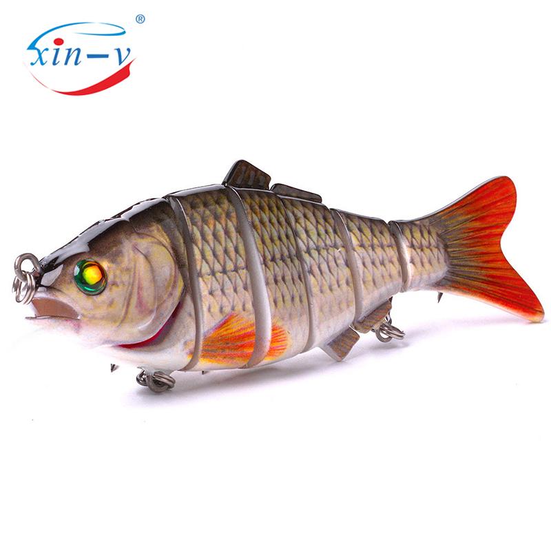 XIN-V Swimbait VSJ06-5 120mm 31g Fishing Lure Isca 6 Segments Multi Jointed Natural Lifelike Carp Pike Swim Bait Hard Artificial