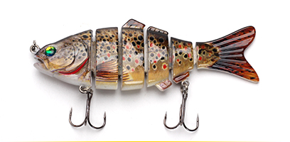 XIN-V -Xin-v Swimbait Vsj06-5 120mm 31g Fishing Lure Isca 6 Segments Multi Jointed-12