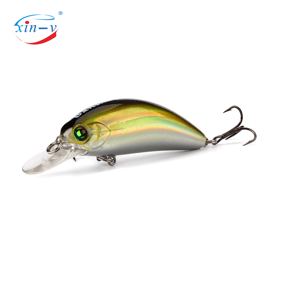 XIN-V Crankbait 65mm 9.3g GO-CM003 Trout Perch Fishing Lure Floating Wobbler Artificial Bait Shallow Diving Crank Minnow Crankba
