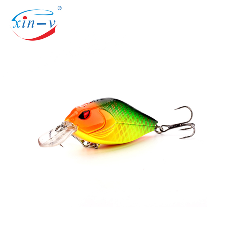 XIN-V Crankbait VKR68 Snoop VIBS Shallow Diving Crankbaits Dying Rattle Sound Wobbler Artificial Hard Crank Bait bass fishing lu