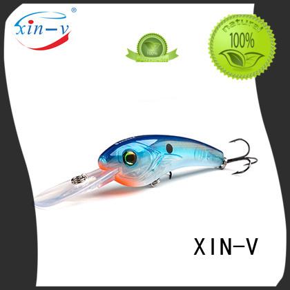 Custom big plastic bass lures XINV perch